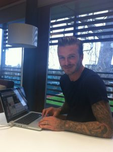 David Beckham on his H&M Twitter Q&A session