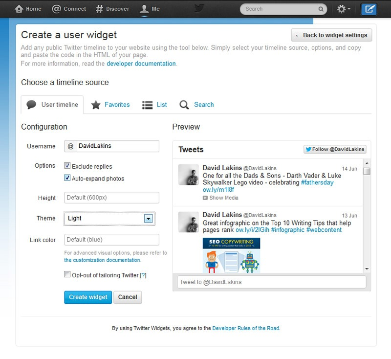 How to add Twitter to your website
