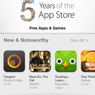 Apple App Store is 5 years old