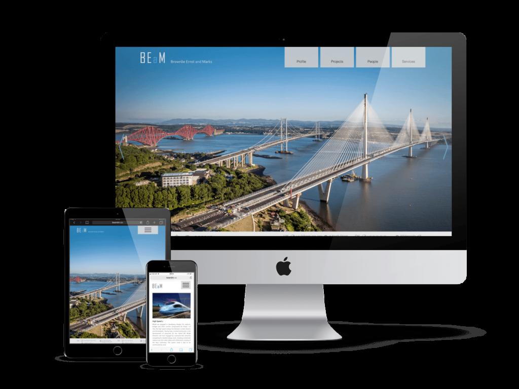 Brownlie Ernst and Marks - fully responsive website