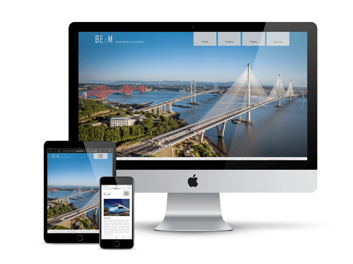 Brownlie Ernst and Marks - fully responsive website