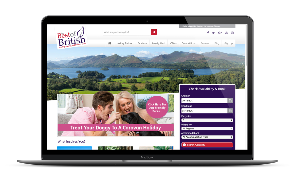 Best of British Holiday Park website