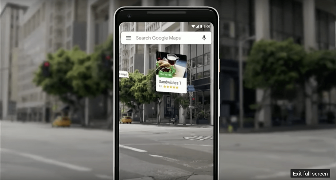 Google Directions Updated with Augmented Reality Maps