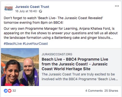 jurassic coast trust facebook post
