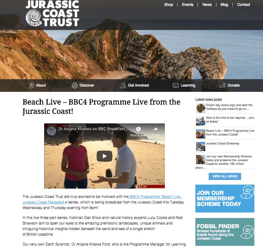 jurassic coast trust blog