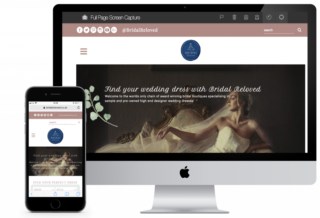 Bridal Reloved Site Preview