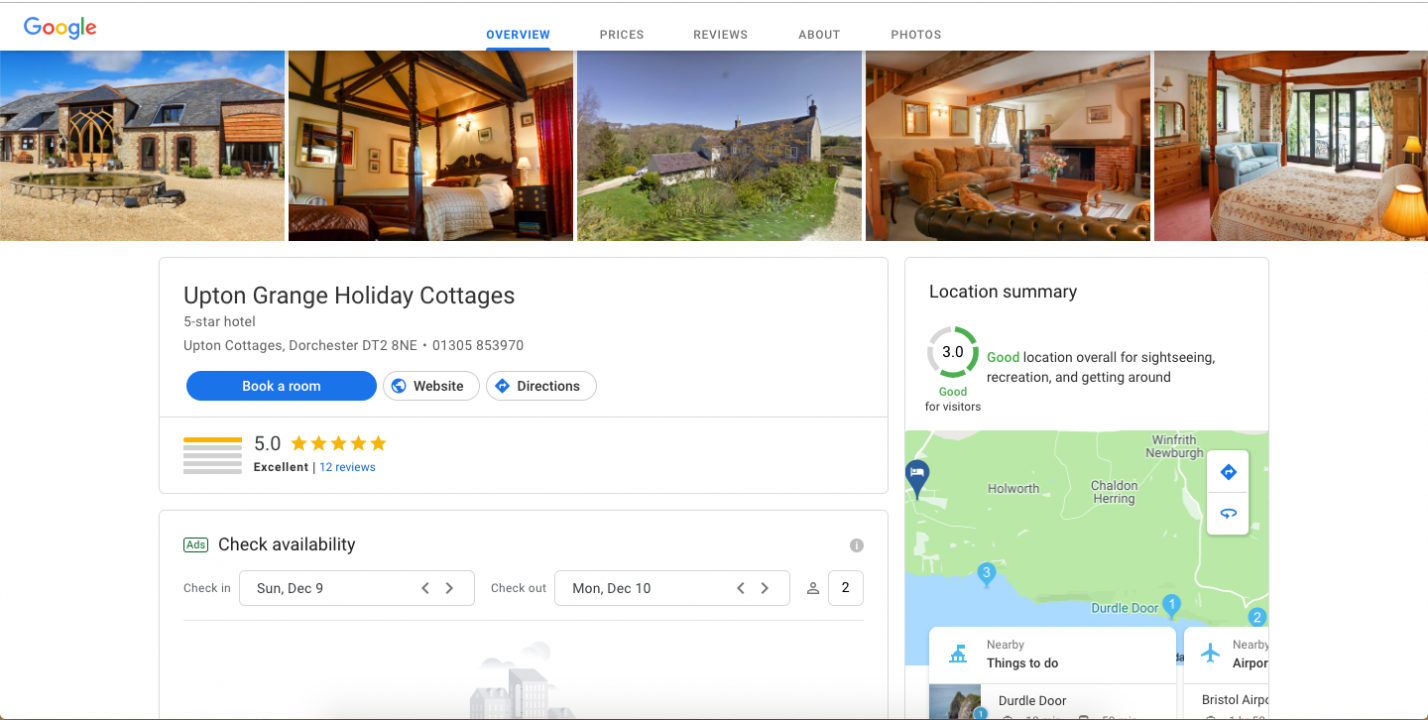 Google introduces new accommodation section
