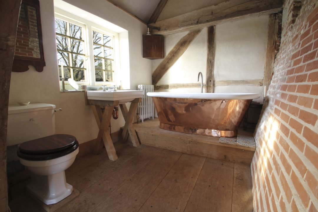 William Holland Bath in a rustic, country household