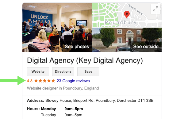 Using Google Reviews to improve your local SEO - Key Digital