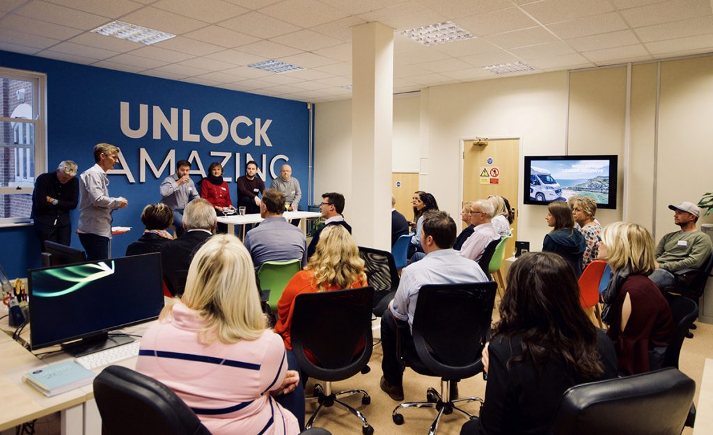 key digital agency in Poundbury hosts an unlock networking event with panel of experts