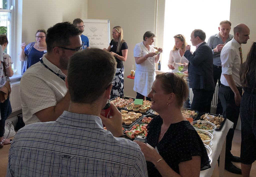 over 30 businesses networking at key digital unlock event in Poundbury Dorset