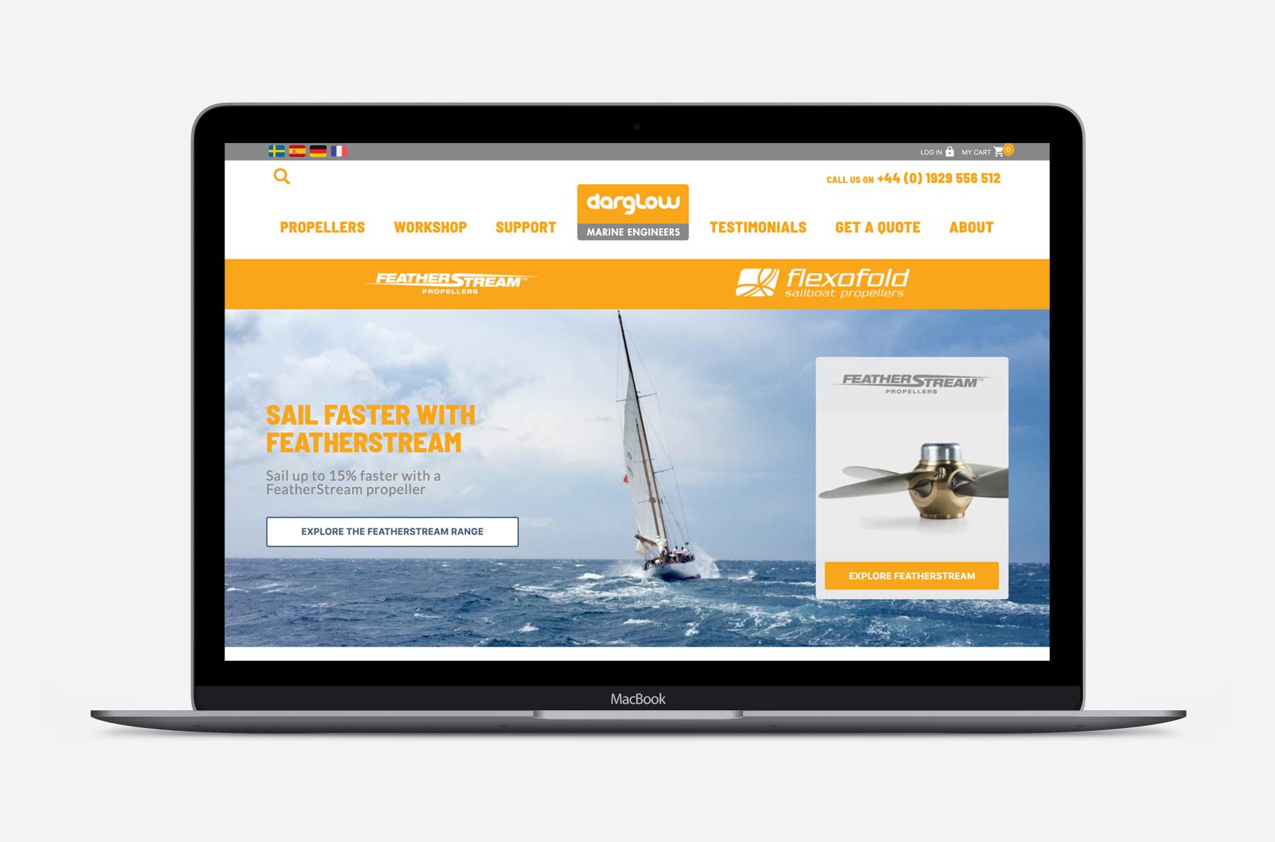 the new Darglow Engineering website homepage