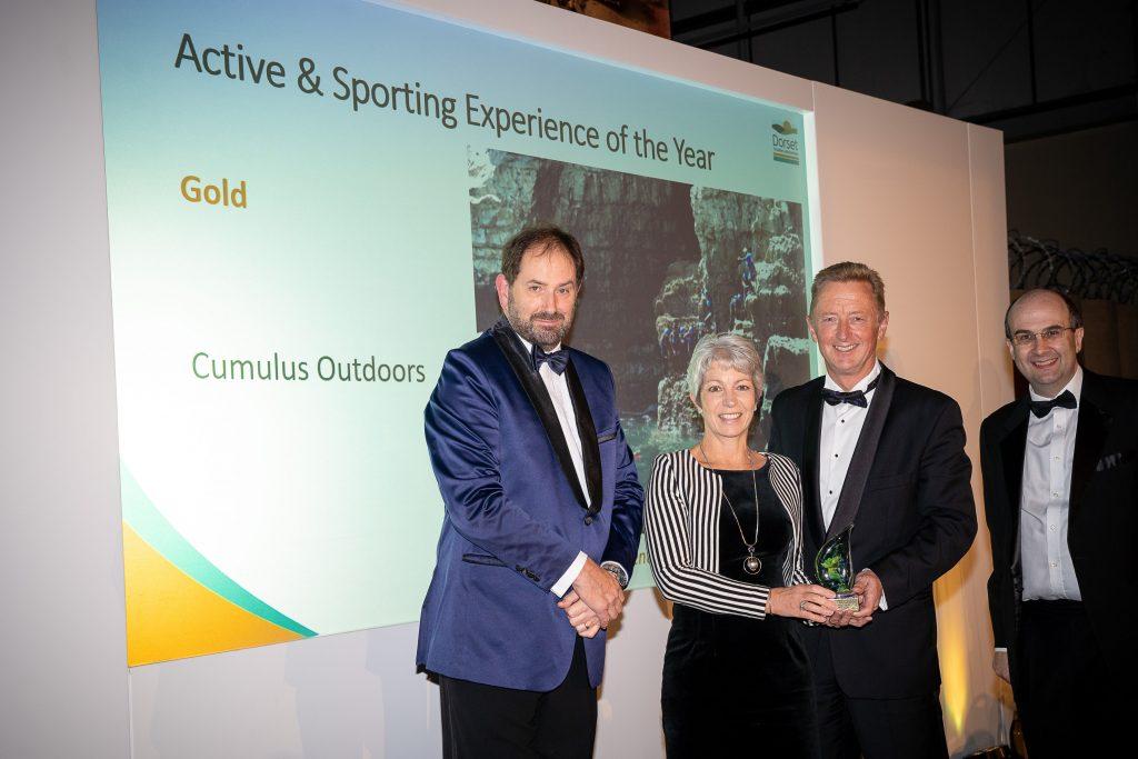 cumulus outdoors win gold award at dorset tourism awards