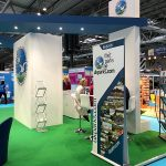 BH&HPA Stand showcasing UKParks.com (built by Key Digital)