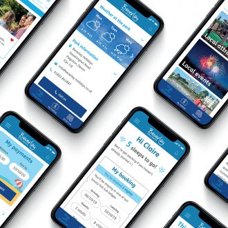 Beverley Holidays fully responsive website and holiday park mobile app