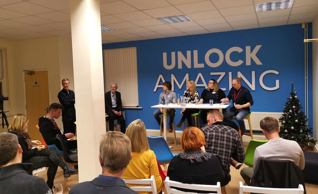 panel of experts discuss digital marketing in 2010 at key digital unlock event in Poundbury dorset