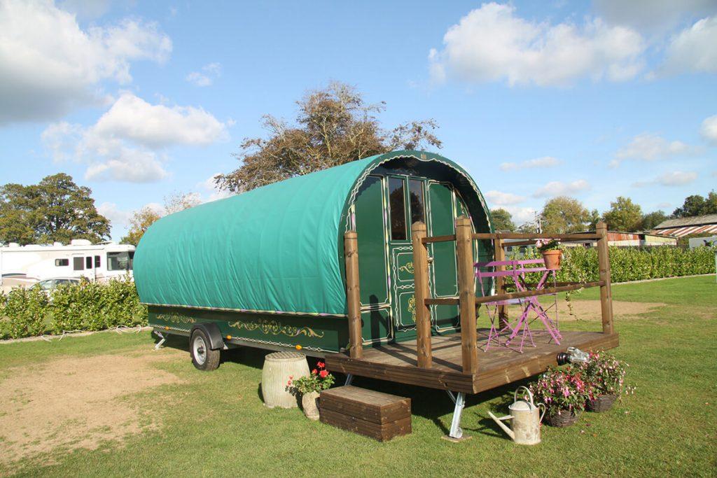 romany caravan south lytchett manor campsite in dorset