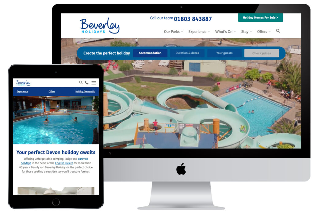 Beverley Holidays fully responsive website