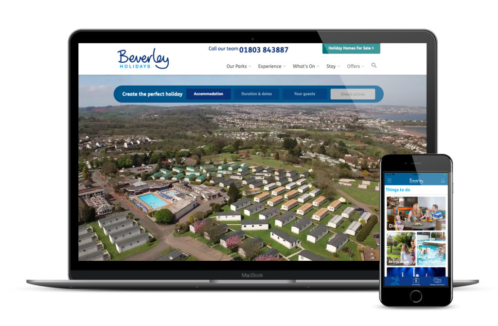 Beverley Holidays website app