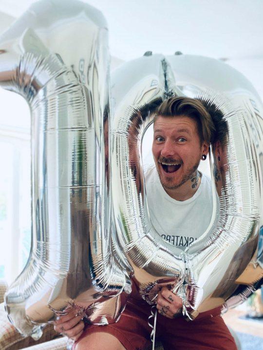 Adam 10 year work anniversary at key digital agency