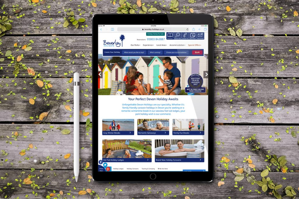 Holiday park website and booking engines