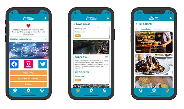 dorchester app screenshots