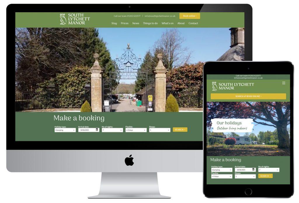 south Lytchett manor dorset holiday park website design